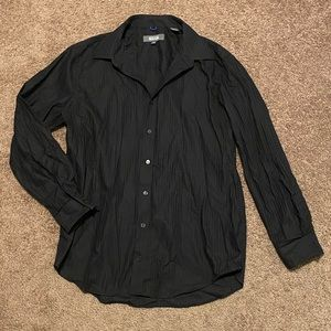 Kenneth Cole Reaction slim fit black button down